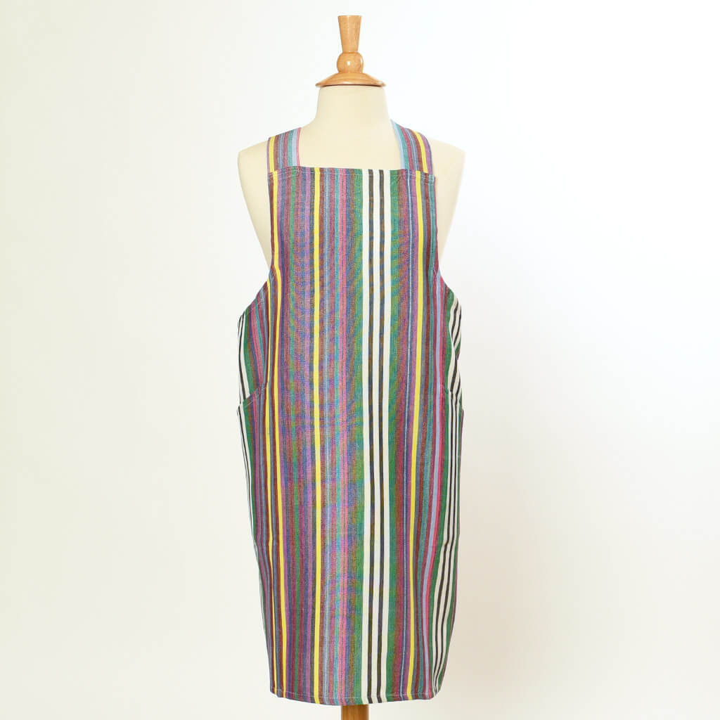 Crossback Apron | Soft Multi Stripes