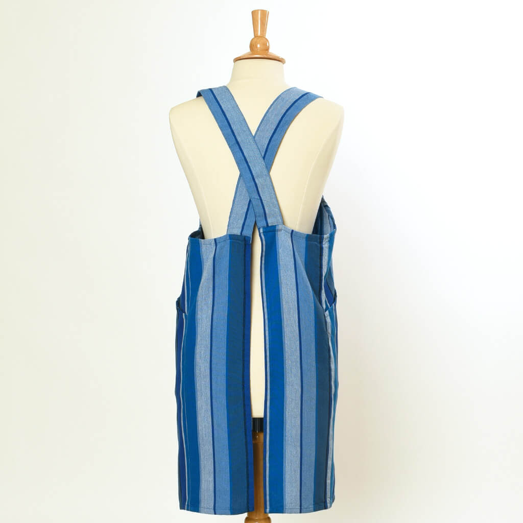 Crossback Apron | Stormy Blues