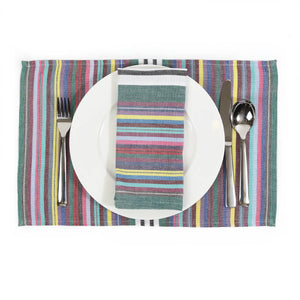 Striped Placemat Set | Soft Multi Stripes