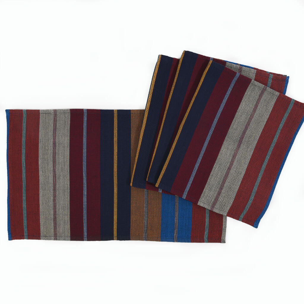 Striped Placemat Set | Wide Indigo