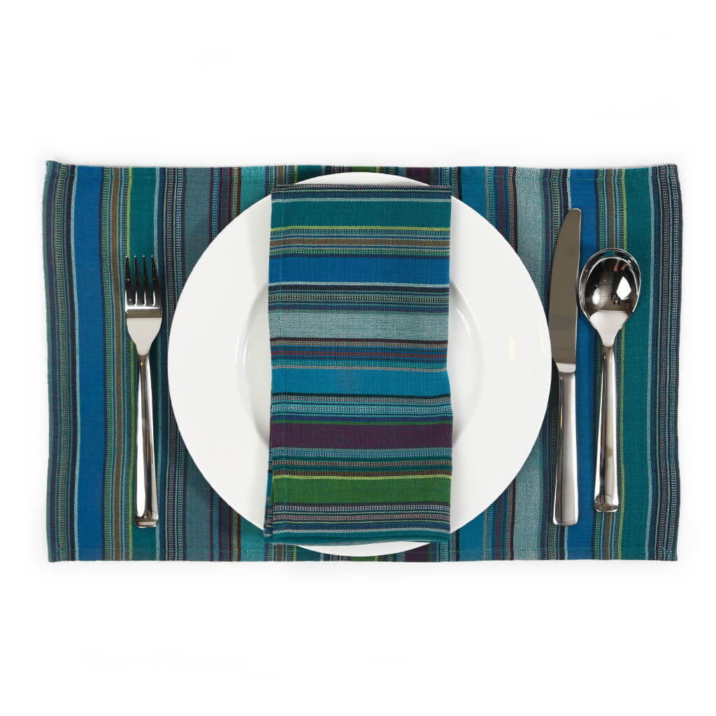 Striped Placemat Set | Quetzal Jade