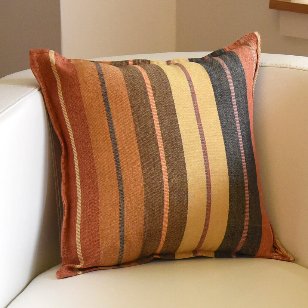 Mayamam Stripes Pillows | Wide Caramel