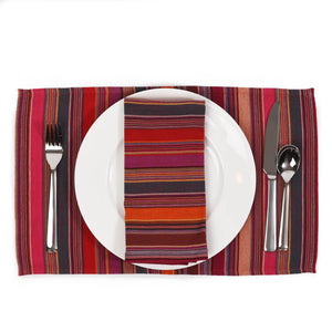 Striped Placemats | Berry Jubilee