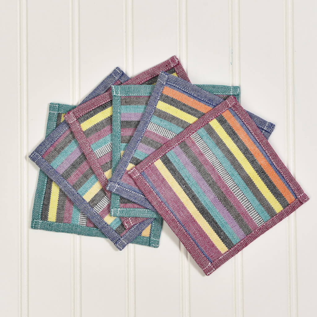 Coasters | Evening Heather Stripes and Solids with Optional Gift Bag
