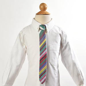 Boy's Necktie | Soft Multi Stripe