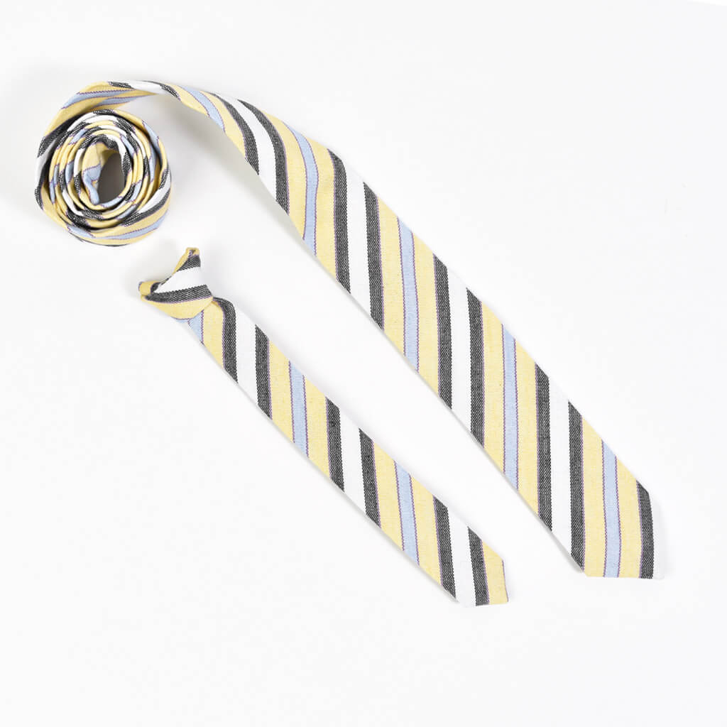 Men's & Boy's Tie Matching Set | Country French Stripe