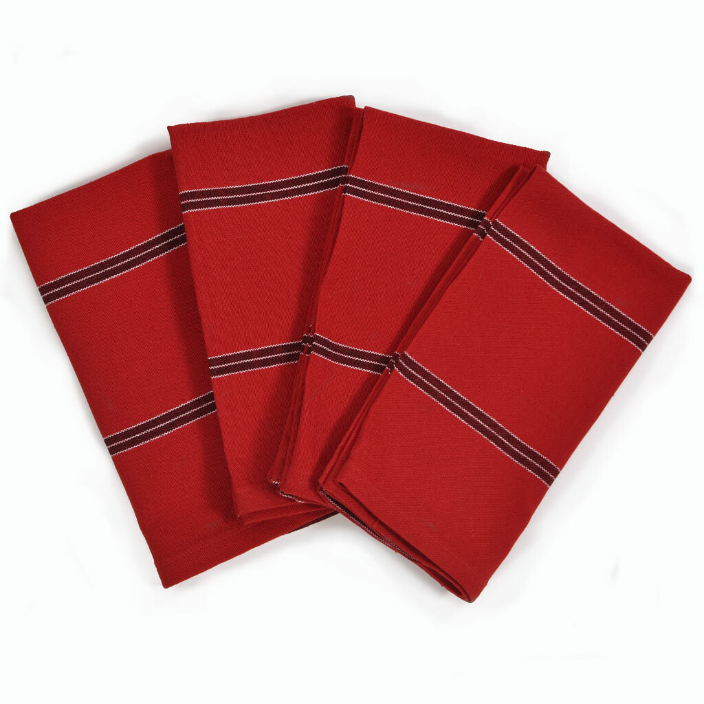 Cajola Red Striped Table Napkins