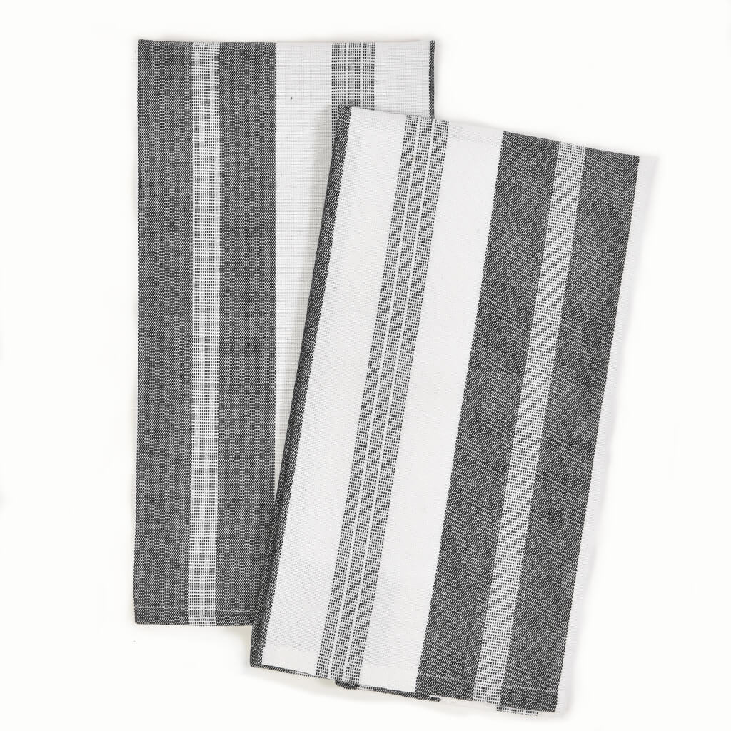Black & White Stripes Kitchen Towels