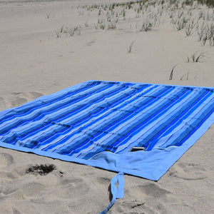 Cotton Beach Throw | Stormy Blues