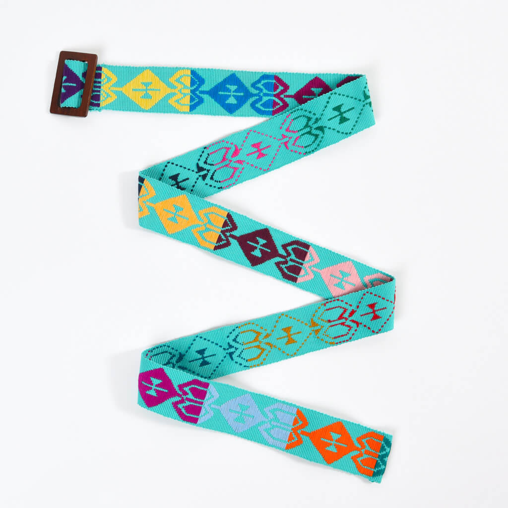 Belt with Wooden Buckle 47"