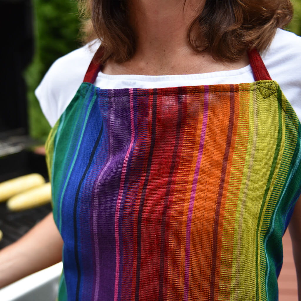 Bib Apron | Rainbow Stripes