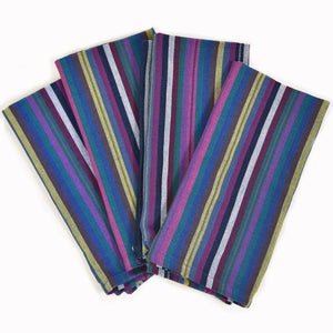 Table Napkins | Cobalt Blue Stripes
