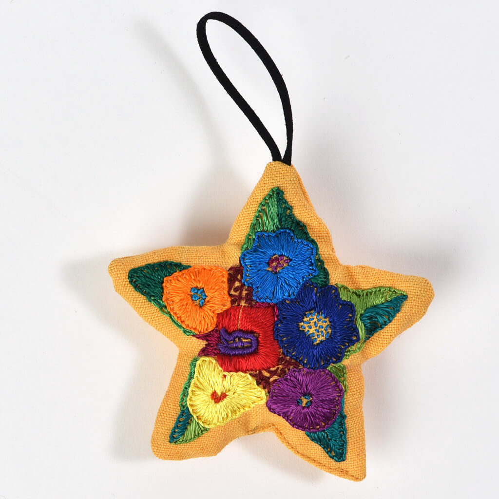 Hand embroidered Christmas Ornaments | Star