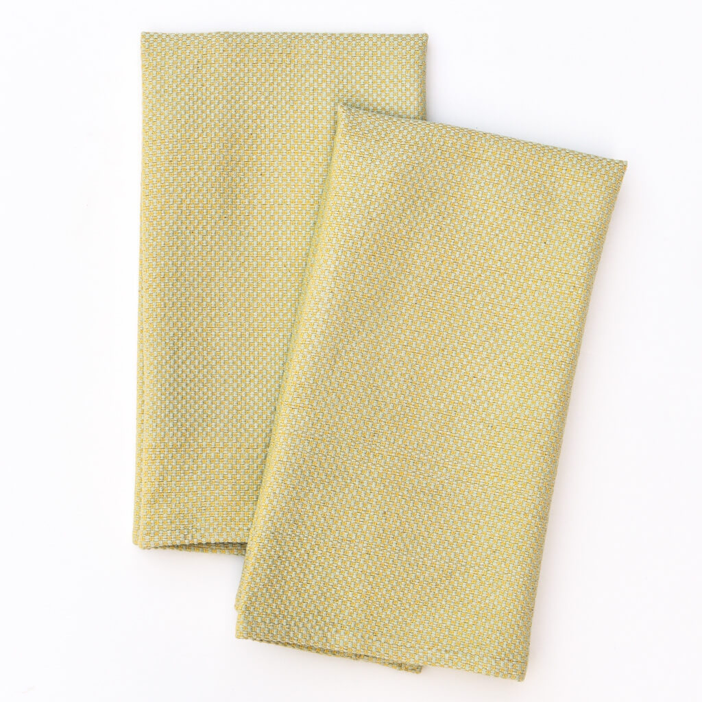Hache Dish Towels Celery & Butter Yellow