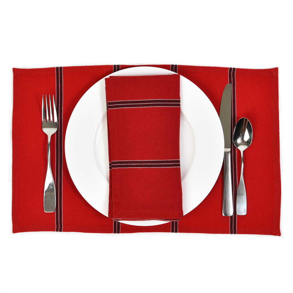 Striped Placemats | Cajola Red Stripe