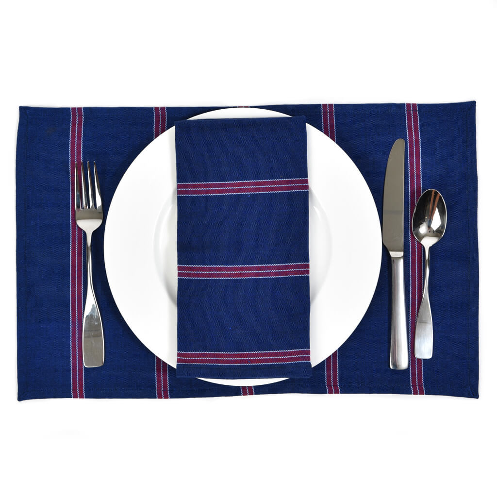 Striped Placemats | Red, White, & Blues