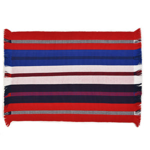 Backstrap Stripe Placemats | Red, White & Blue