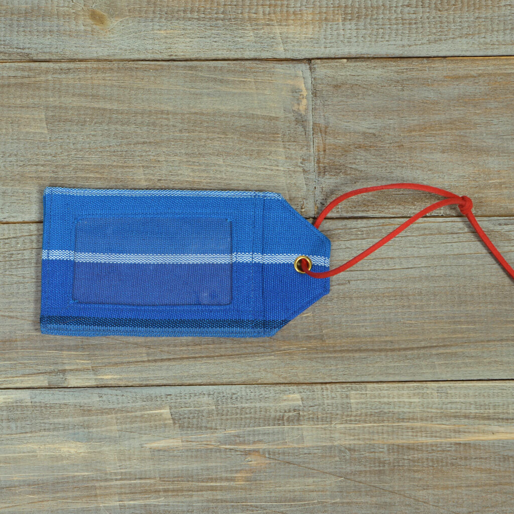 Mayamam Stripe Luggage Tags | Stormy Blues