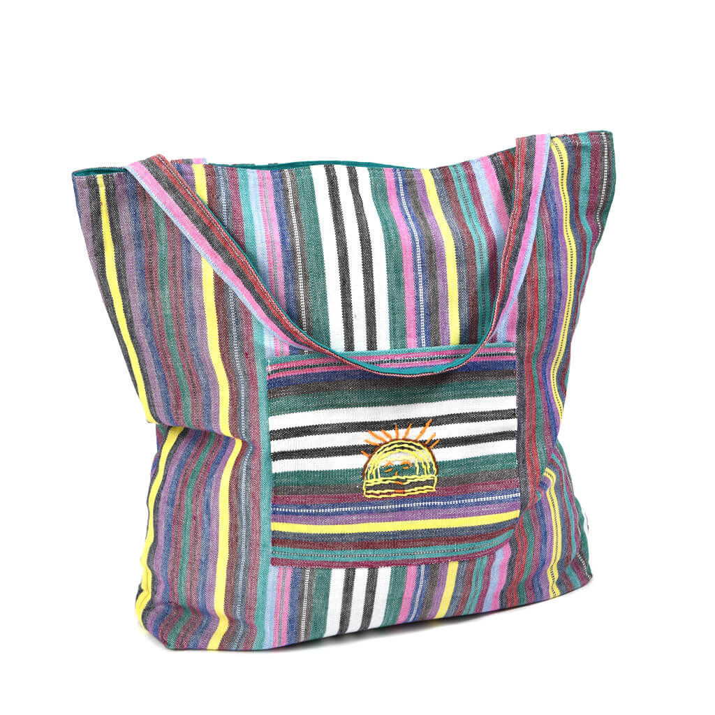 Striped tote bag | Soft Multi