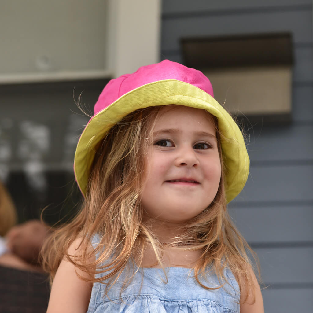 Child Bucket Hat | Hot Pink