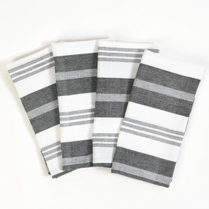 Black & White Table Napkins