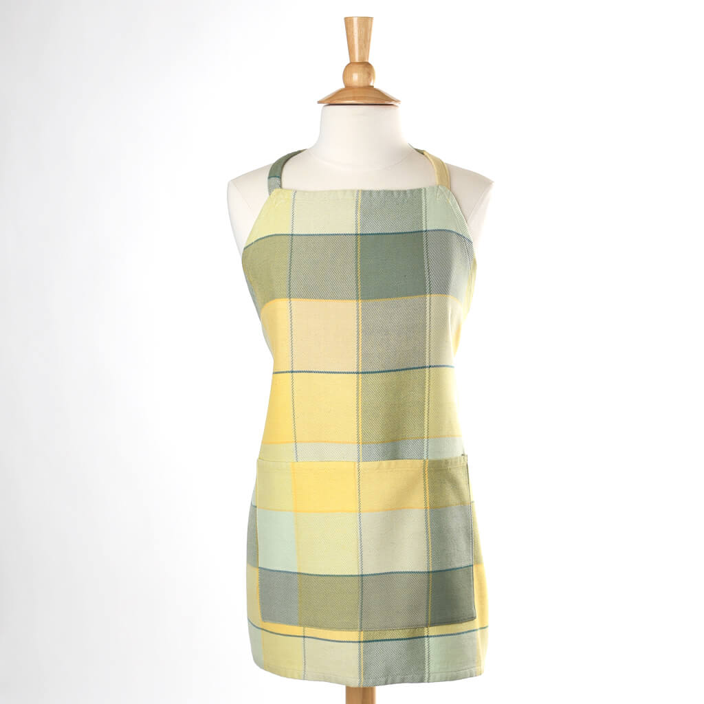 Plaid Twill Bib Apron } Celery & Butter