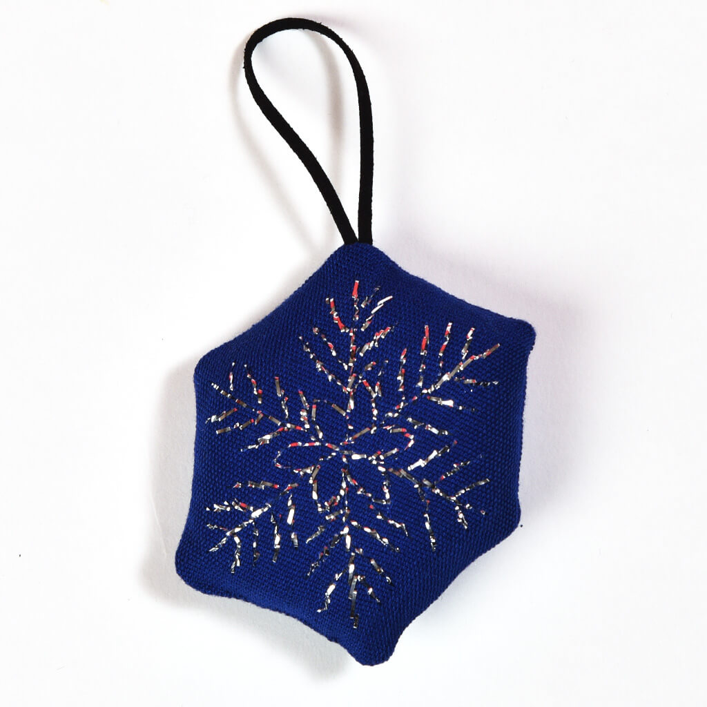 Hand embroidered Christmas Ornaments | Snowflake