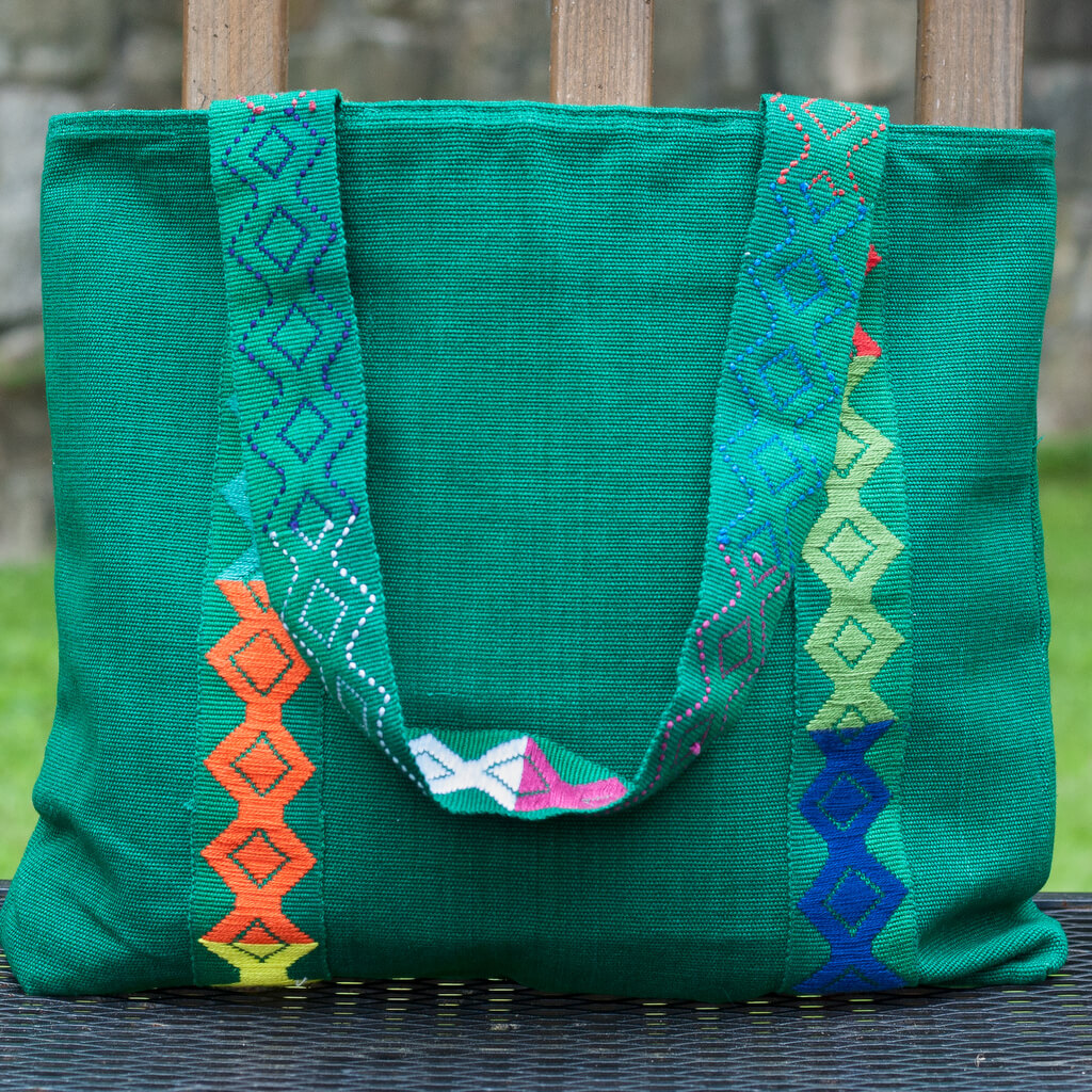 Backstrap Basics Tote | Emerald Green