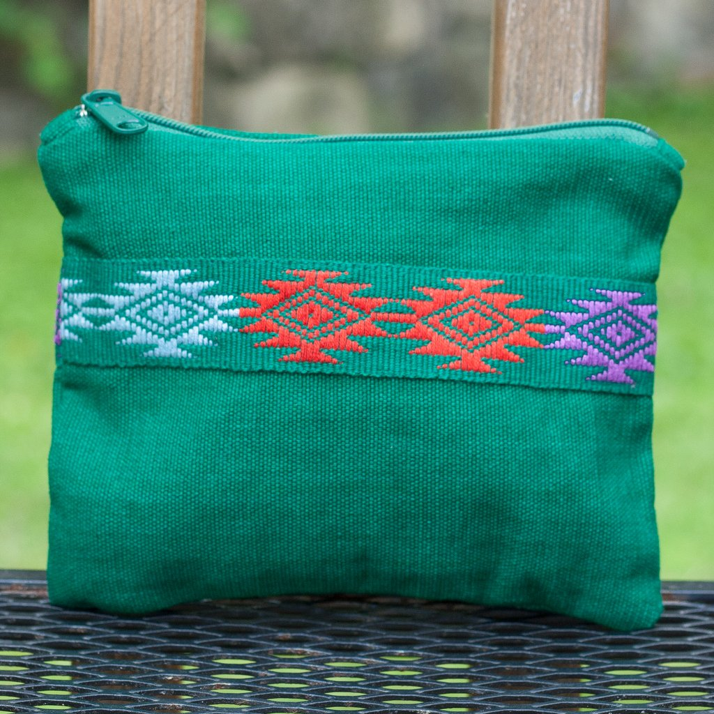 Backstrap Basics Clutch | Emerald Green