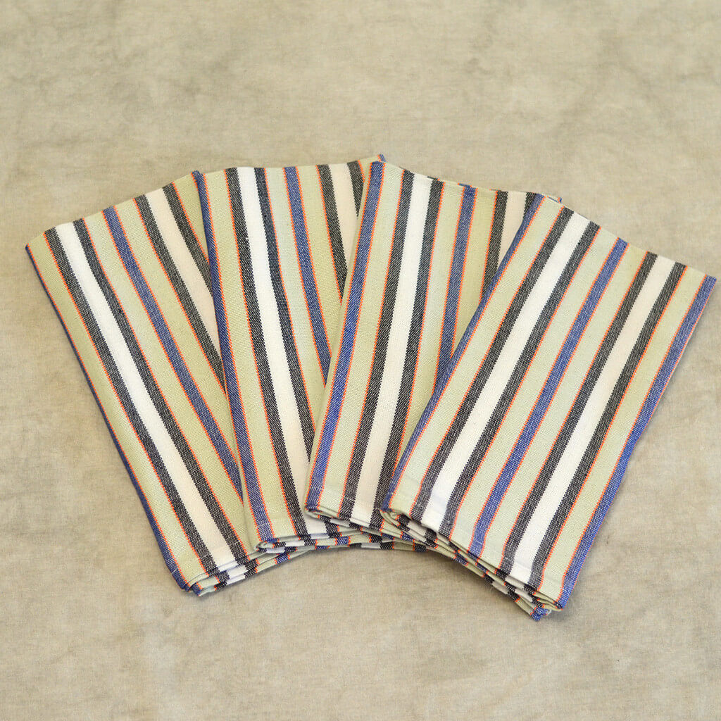 Table Napkins | Celery & White Stripes