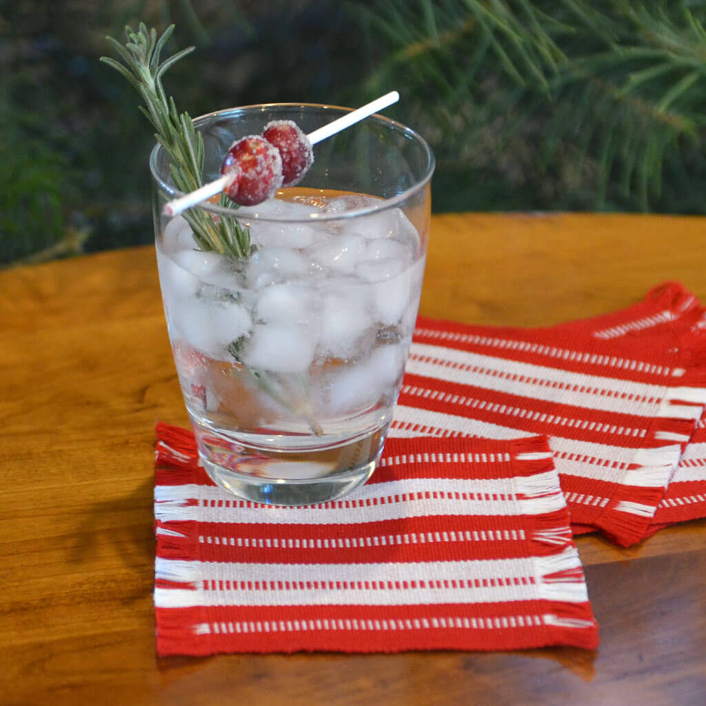 Peppermint Striped Coasters