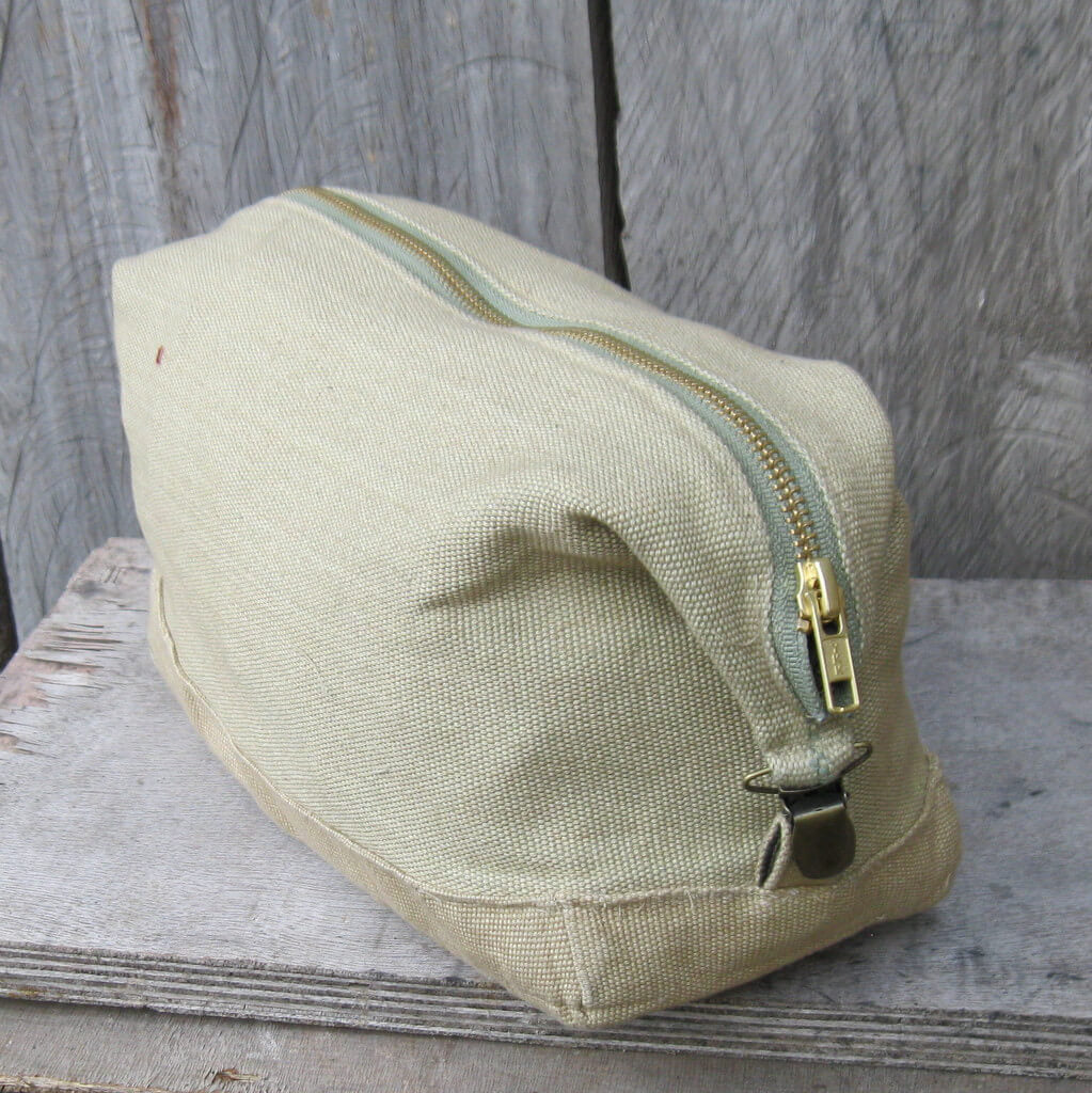 Toiletry Bag | Natural & Sage Canvas