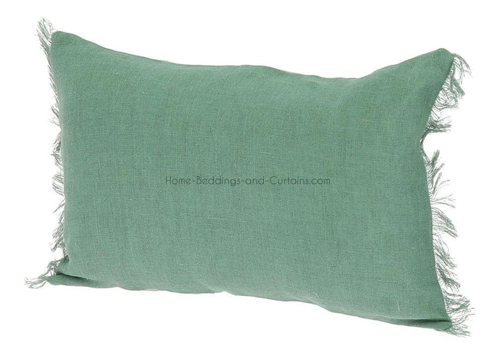 18 coloris disponibles - En-fil-dindienne - Coussin en lin Double - 30x45 cm - Home Beddings and Curtains