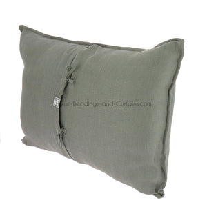 18 coloris disponibles - En-fil-dindienne - Coussin en lin Double - 50x75 cm - Home Beddings and Curtains