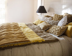 18 coloris disponibles - En-fil-dindienne - Edredon bout de lit en lin Double - 90x200 cm - Home Beddings and Curtains