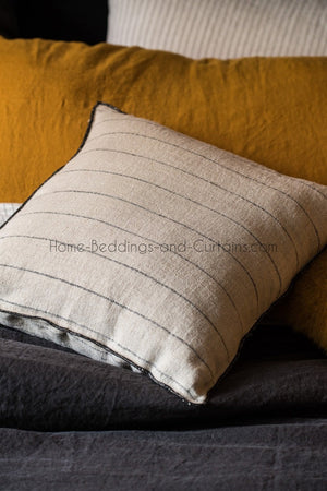 2 colors available - Harmony - Calvi linen cushion cover - 45x45 - 40x60 or 80x80 cm - Home Beddings and Curtains