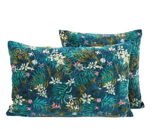 3 coloris disponibles - Harmony - Housse de coussin en velours Jungle - 40x60 cm - Home Beddings and Curtains