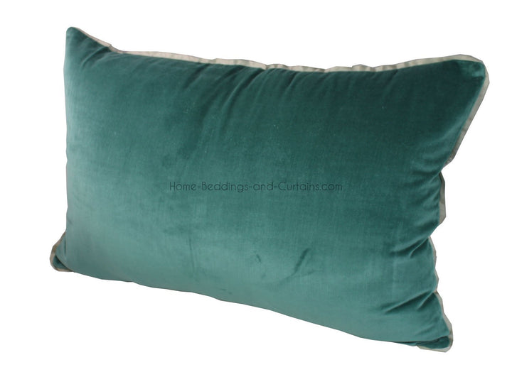 8 coloris disponibles - En-fil-dindienne - Taie oreiller en velours Tosca - 50x75 cm - Home Beddings and Curtains