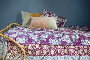 5 coloris disponibles - En-fil-dindienne - Plaid en velours Anemone - 160x160 cm