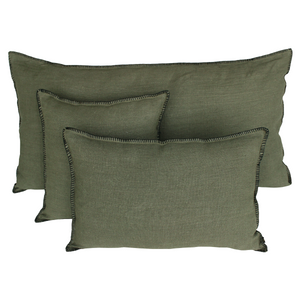 15 colors available - Harmony - Mansa washed linen cushion cover - 45x45 or 40x60 cm