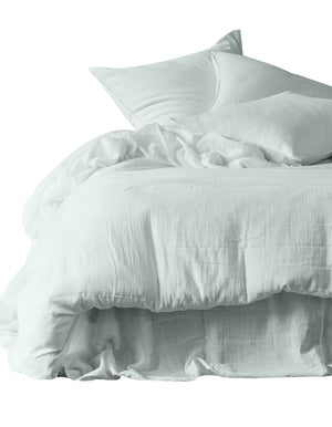 7 colors available - Harmony - Dili washed cotton fitted sheet 140x200 cm / 160x200 cm