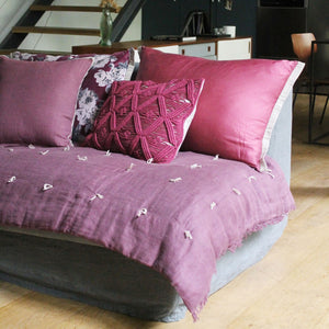 18 coloris disponibles - En-fil-dindienne - Edredon bout de lit en lin Double - 90x200 cm