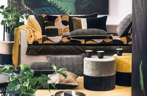 2 colors available - Harmony - Giant velvet cushion cover Isis - 55x110 cm