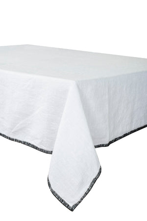 2 colors available - Harmony - Letia washed linen tablecloth / curtain - 100% washed linen - 170x350 cm
