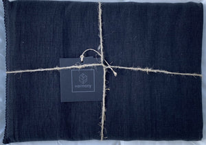 11 colors available - Harmony - Letia washed linen tablecloth / curtain - 100% washed linen