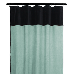 8 colors available - Harmony - Mansa washed linen and velvet curtains - 135x300 cm