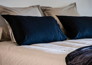 10 coloris disponibles - Vent du Sud - Taie oreiller en percale, traversin Manoir