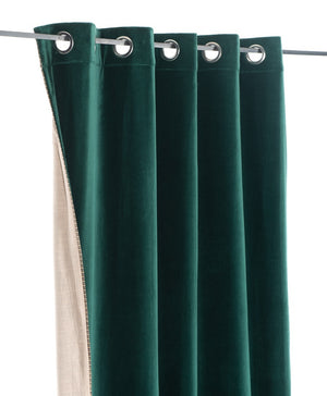 6 colors available - Indian Song - Namaste velvet lined curtains - 140x260 cm