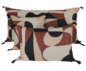 2 colors available - Harmony - Giant Nido washed linen cushion cover - 55x110 cm