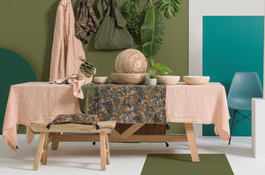 2 colors available - Harmony - Nais linen tablecloth - 100% washed linen